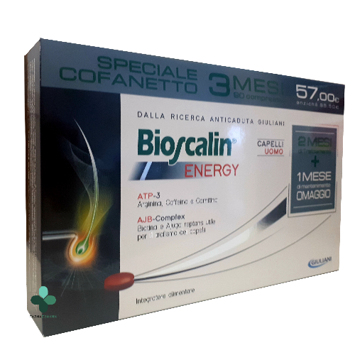 Bioscalin Energy R-Plus Compresse anticaduta capelli Uomo (90 cpr) ea1fba03b74a