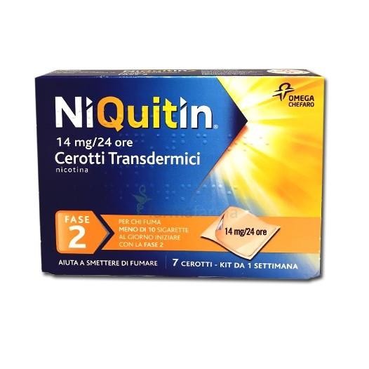Niquitin cerotti transdermici 14mg 24h smettere di fumare for Farmaci per smettere di fumare