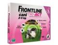 Frontline Tri act soluzione antiparassitario spot on per cani da 2 a 5kg (3 pipette)