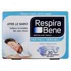RespiraBene Bretelline nasali per adulti pelle sensibile (30 pz)
