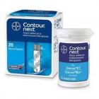 Strisce reattive per test glicemia contour next 25 pezzi
