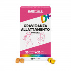 Dailyvit+ gravidanza allattamento con dha multivitaminico e multiminerale 30 compresse + 30 perle