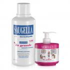 """Saugella Dermoliquido detergente intimo + Saugella Girl Limited edition """"Da grande"""" (500ml+150ml)"""