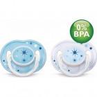 Avent Succhietti azzurri in silicone da 3 a 6 mesi (2 pz)
