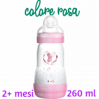 Mam Easy Start biberon anti coliche flusso medio 2+ mesi colore rosa (260 ml)