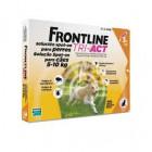Frontline Tri act soluzione antiparassitario spot on per cani da 5 a 10kg (3 pipette)