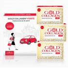 Gold Collagen Forte pelle capelli unghie (30 bottigliette)