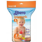 LIBERO SWIMPANTS S 6 PANNOLINI mare piscina 7-12kg