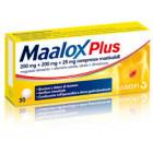Maalox Plus 200mg+220mg+25mg (30 cpr)