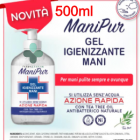 ManiPur gel igienizzante mani con alcool e tea tree oil (500 ml)
