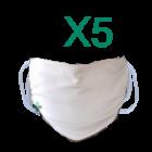 Mascherine facciali filtranti lavabili riutilizzabili (5 pz)
