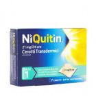 NiQuitin cerotti transdermici 21mg 24h smettere di fumare fase 1 (7 pz)