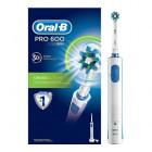 Oral B Pro 600 D3 CrossAction Spazzolino elettrico ricaricabile (kit completo)