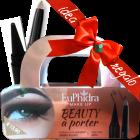 Euphidra Make Up Beauty à porter idee regalo (1 matitone occhi waterproof sabbia rosata + 1 kajal cono nero + astuccio in latta)