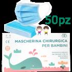 Mascherine chirurgiche per bambini (50 pz)