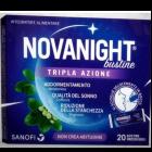 NovaNight tripla azione integratore di Melatonina (20 bustine orosolubili)