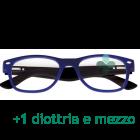 CorpOOtto Pc Vision Occhiali per lettura unisex colore blu +1,50 + astuccio in pelle