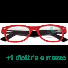 CorpOOtto Pc Vision Occhiali per lettura unisex colore rosso +1,50 + astuccio in pelle