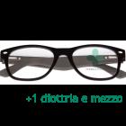CorpOOtto Pc Vision Occhiali per lettura unisex colore nero +1,50 + astuccio in pelle