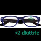CorpOOtto Pc Vision Occhiali per lettura unisex colore blu +2,00 + astuccio in pelle