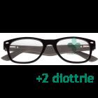 CorpOOtto Pc Vision Occhiali per lettura unisex colore nero +2,00 + astuccio in pelle