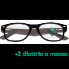 CorpOOtto Pc Vision Occhiali per lettura unisex colore nero +2,50 + astuccio in pelle