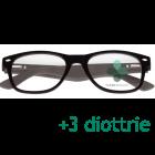 CorpOOtto Pc Vision Occhiali per lettura unisex colore nero +3,00 + astuccio in pelle