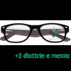 CorpOOtto Pc Vision Occhiali per lettura unisex colore nero +3,50 + astuccio in pelle