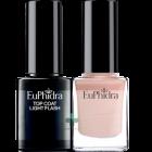 Euphidra Smalto semipermanente rosa cipria + Top Coat light flash SP03 (10ml+10ml)