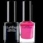Euphidra Smalto semipermanente rosa ciclamino + Top Coat light flash SP05 (10ml+10ml)