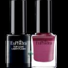 Euphidra Smalto semipermanente prugna + Top Coat light flash SP02 (10ml+10ml)