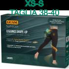 Guam Soft Touch Leggings Shape-Up con alghe marine Guam e Fir microincapsulate colore nero taglia XS-S
