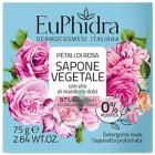Euphidra Sapone solido vegetale per le mani Petali di rosa (75 g)