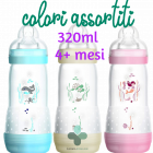 Mam Easy Start biberon anti coliche colori assortiti flusso rapido 4+ mesi (320 ml)