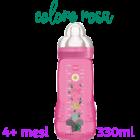 Mam Easy Active biberon flusso rapido 4+ mesi colore rosa (330 ml)