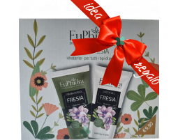 Euphidra Duo Fresia kit idratante corpo idee regalo donna (crema 75ml + doccia gel 75ml)