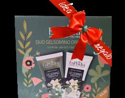 Euphidra Duo Gelsomino orientale kit nutriente corpo idee regalo donna (crema 75ml + bagnocrema 75ml)