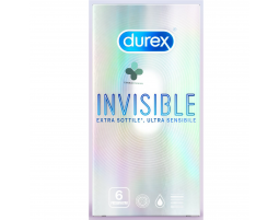 Durex Invisible profilattici ultra sottili e ultra sensibili (6 pz)